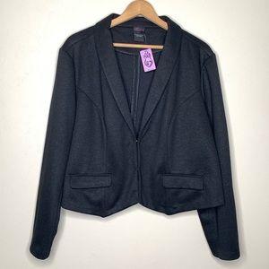 Torrid Black Sparkle Ponte Blazer Size 4 (4X)